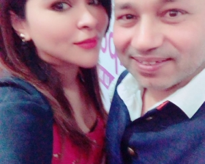 Dr Somdutta with Kailash Kher at WEP launch